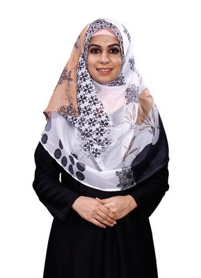 Women's Daily Wear Printed Silk Scarf Hijab Dupatta