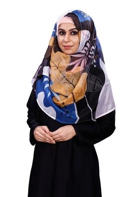 Women's Printed Free Size Silk Scarf Hijab Dupatta