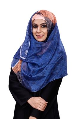 Women's Printed Tibetian Soft Silk Scarf Hijab