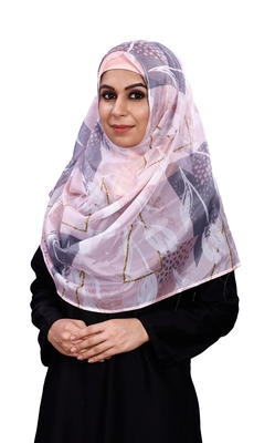 Women's Multi Color Free Size Printed Silk Scarf Hijab