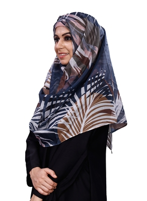 Free Size Printed Tibetian Silk Scarf Hijab For Women
