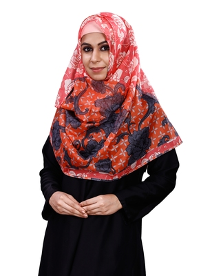 Free Size Printed Silk Scarf Hijab Dupatta For Women