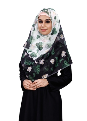 Women's Free Size Printed Tibetian Silk Scarf Hijab