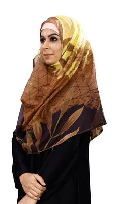 Women's Tibetian Silk Printed Scarf Hijab