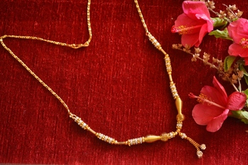 Designer diamond Studded classic Simple Gold Plated Necklace