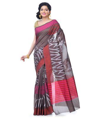 Brown Women's Chanderi Resham Work Fancy Banarasi Saree