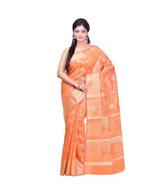 Mustard Woman's Mercerize Cotton Silk Banarasi Saree