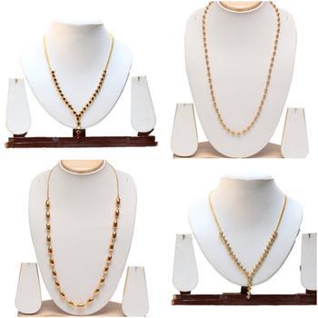Copper long haram necklace set
