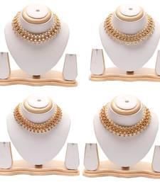 Kundan pearl choker neckace  - combo set