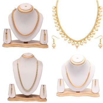 Beautiful short chain and earrings set - combo set