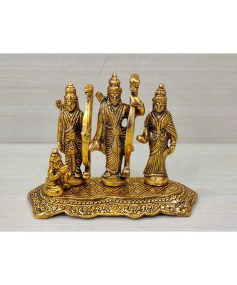 Handcrafted Golden Oxidized Antique Look Metallic Lord Rama Darbar Idol