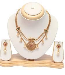 Beautiful south indian multicolour short necklace set
