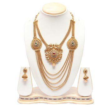 Multilayer double necklace
