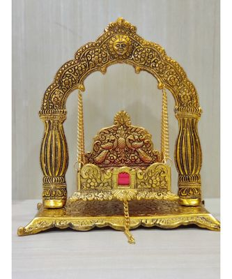 Handcrafted Golden Oxidized Antique Look Metallic Nand Gopal Palna Jhula
