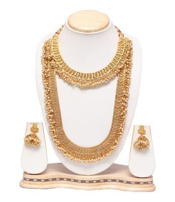 Copper base bridal necklace set