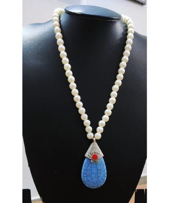 Sky Blue agate necklace