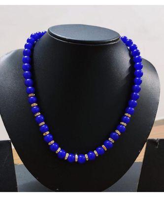 Blue onyx elegant necklace