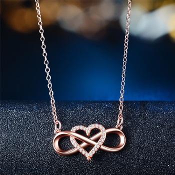 Rose cubic zirconia pendants