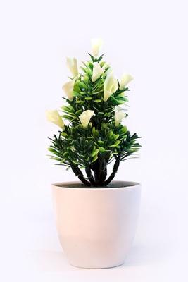 Bonsai Artificial Plant Plastic Flower Basket