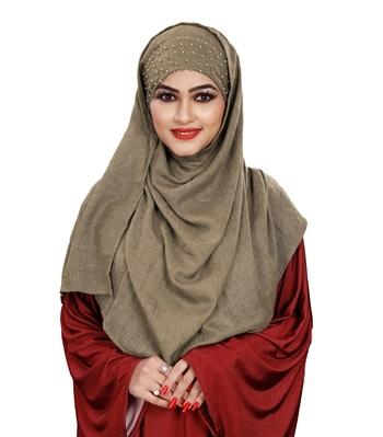 Women Viscose Cotton Instant Moti Patta Pearl Work Scarf Hijab