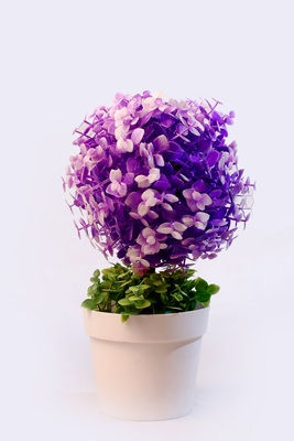 Bonsai Artificial Plant Plastic Flower Basket