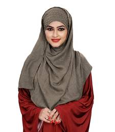 Women Viscose Cotton Instant Moti Patta Pearl Work Scarf Hijab