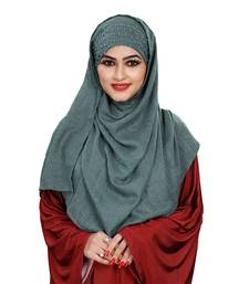 Women Viscose Cotton Pearl Work Scarf Hijab