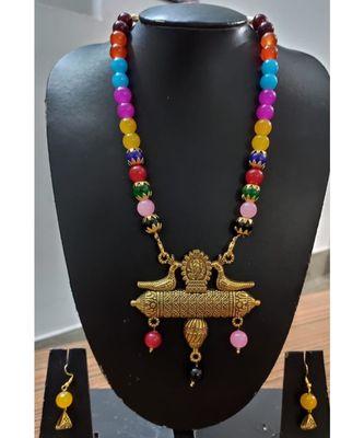 Multicolour colur agate Necklace set
