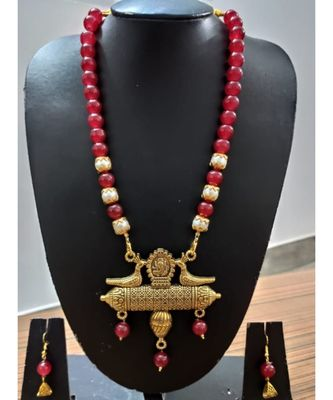 Red agate necklace necklace set