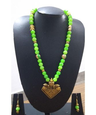 Light green agate Necklace set