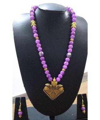 Blue agate Necklace set
