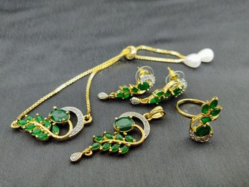 M Creation Gold Plated Combo Set For Women/Girls