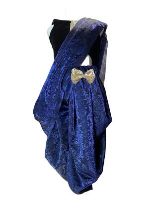 blue woven stitched art_silk kids-sarees