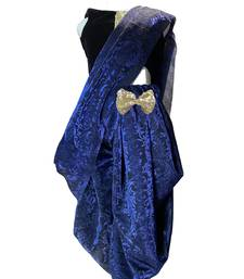 blue woven stitched art_silk kids-sarees