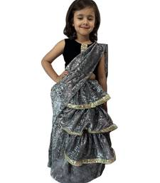 grey woven stitched art_silk kids-sarees