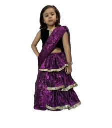 purple woven stitched art_silk kids-sarees