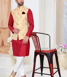 Multicolor embroidered fancy fabric kurta-pajama