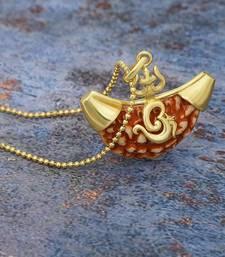 One Mukhi Rudraksha Pendant With Chain Lord Shiva Trishul Designer Pendant