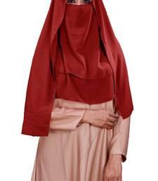 Women Georgette 3 Layer Hijab Style Niqab Veil Scarf