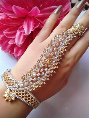 Gold diamond bracelets