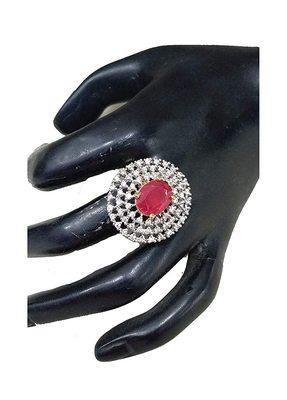 Red zircon jewellery