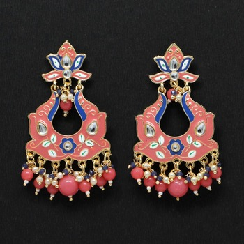 Pink danglers-drops