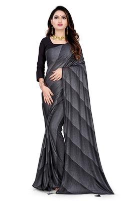 black printed cotton saree with blouse
