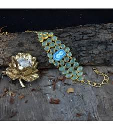 Green Blue Natural Stone Stylish Designer Latest Fashionable Choker Necklace