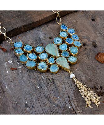 blue pink duzzy stylish designer fashionable western look full set