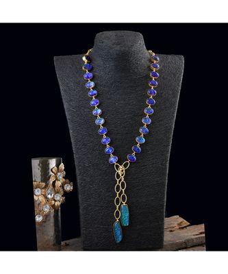 blue sky look designer stylish multi shade beautiful fashionable scarf necklace