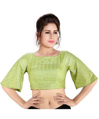 Peplum sleeved embroidered readymade designer saree blouse