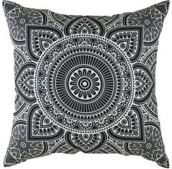 Indiancraft Printed Cushions Cover  (Pack of 2, 60 cm*60 cm, Black)