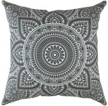 Indiancraft Printed Cushions Cover  (Pack of 2, 60 cm*60 cm, Grey)