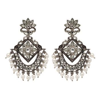 Silver danglers-drops